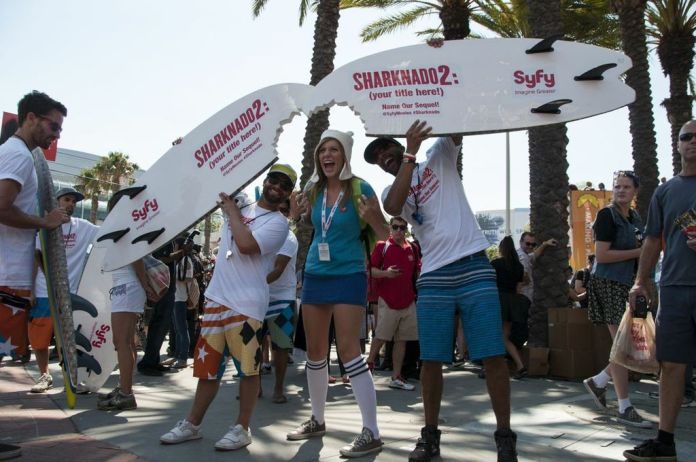 SDCC, SDCC2013, San Diego Comic Con, Sharknado, Sharknado 2, shark bite surfboards