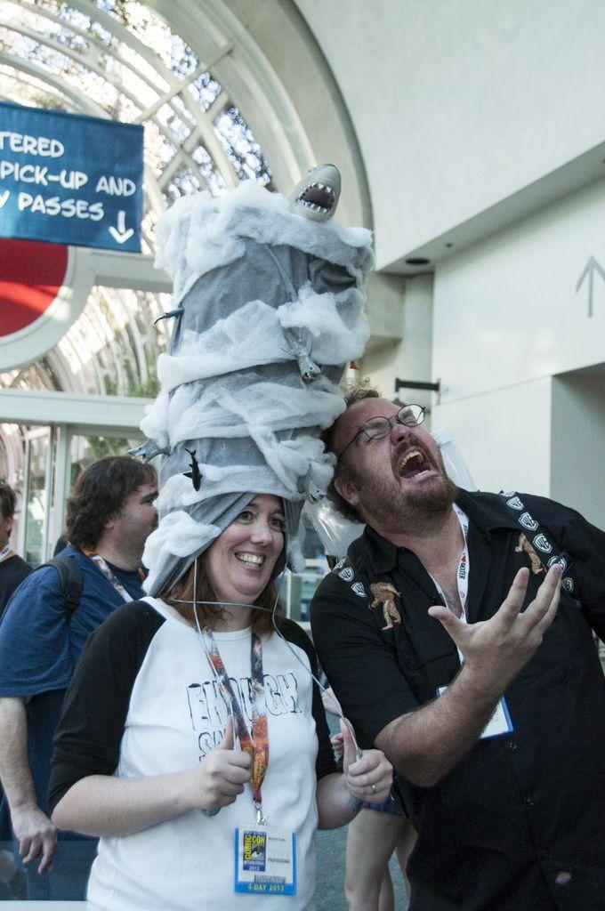 SDCC, SDCC2013, San Diego Comic Con, Sharknado cosplayer