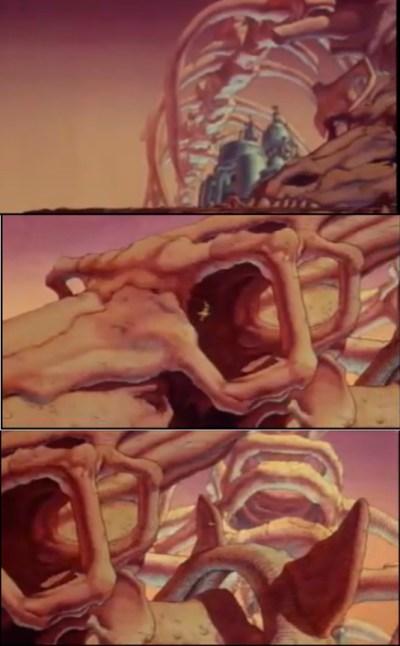 Moebius' skeleton designs from Taarna in Heavy Metal (1981)