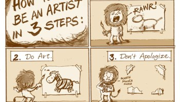 11-5drawing lion artist w500