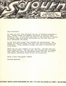Sojourn Letter