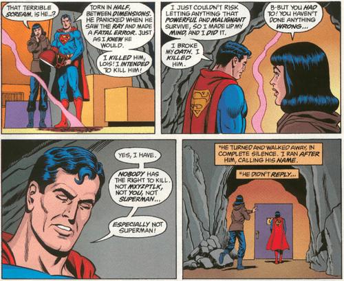 """Superman """"Nobody Has The Right To Kill"""""""