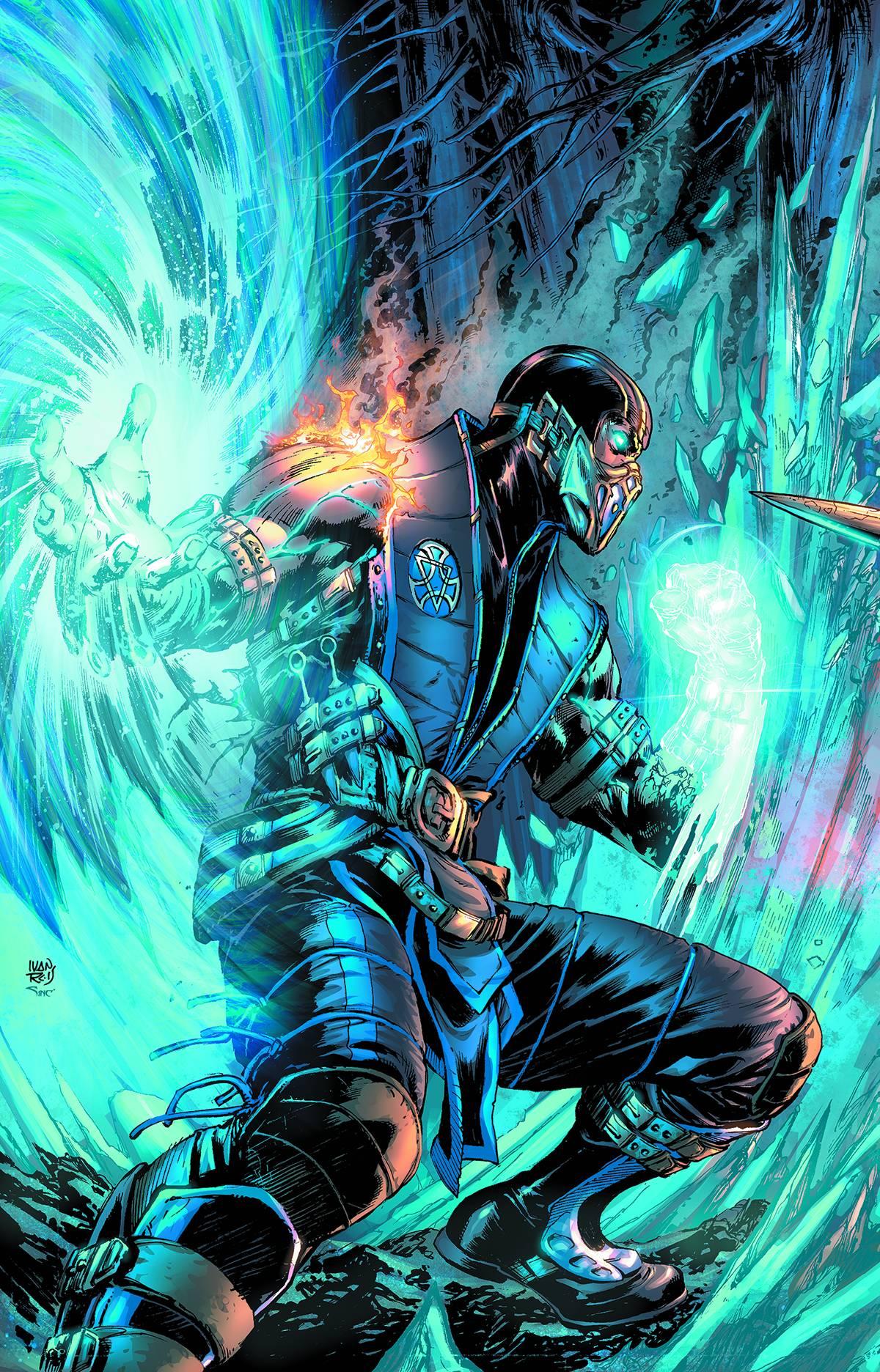 5120x2880 Scorpion Mortal Kombat Ice and Fire Art 5K