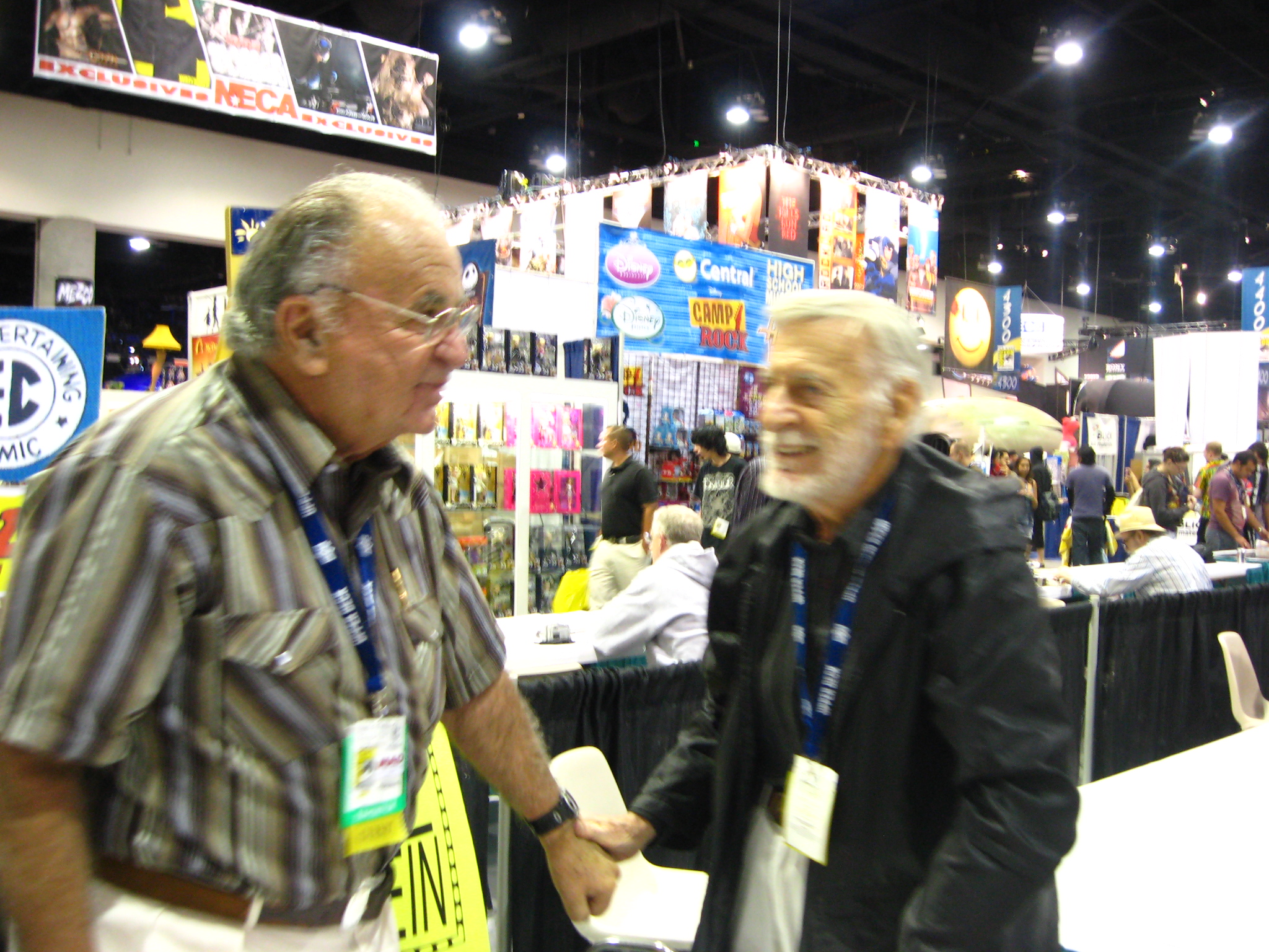 Al Feldstein and JErry Robinson at SDCC 2008