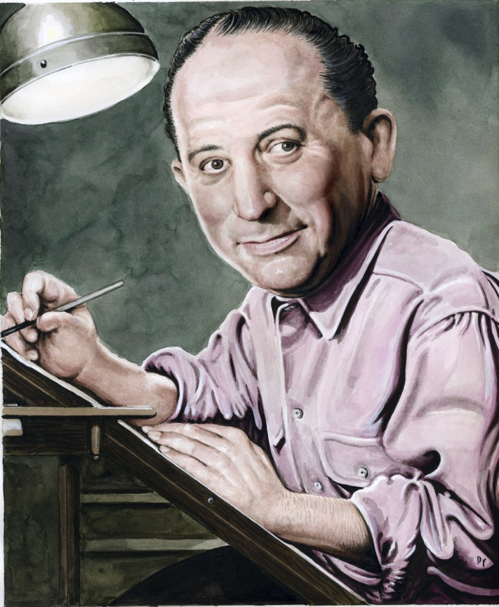 Irwin Hasen by Drew Friedman from Heroes of the Comics.