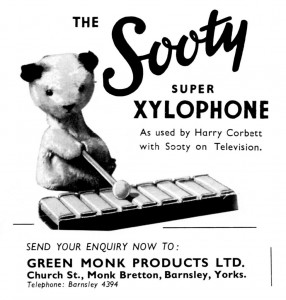 The Sooty Super Xylophone, Green Monk Products (Games and Toys 1956)