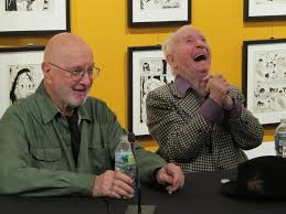 Jules Feiffer and Irwin at MoCCA.