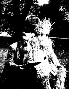 Alan Moore and a Straw Bear, borrowed from here