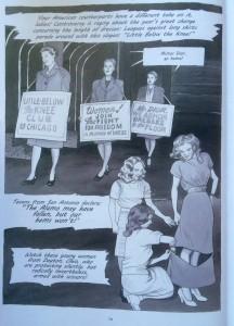 Protesting long skirts