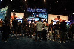 Outside the Capcom booth