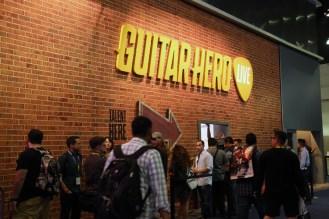 Outside the Guitar Hero demo