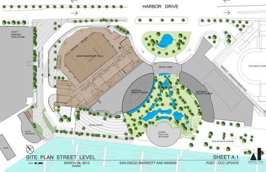 San Diego Marriott Hall proposed_site_plan_street_level