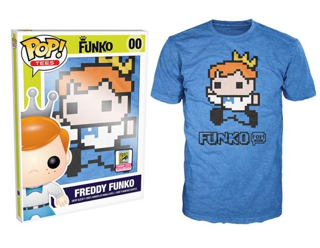 Pop! Tees: Freddy Funko 8-Bit Pixelated