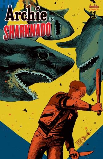 Archie vs. Sharknado One-Shot Variant Cover by Francesco Francavilla