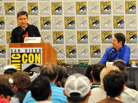Moderator Victor Lucas and Lego Artist Nathan Sawaya