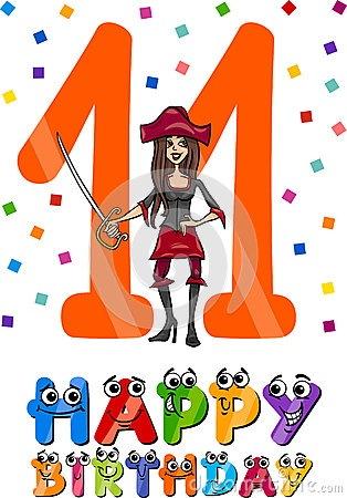 eleventh-birthday-cartoon-design-illustration-anniversary-girls-40596234.jpg