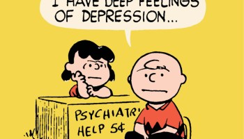 1st Lucy Psychiatric Help Desk in Peanuts
