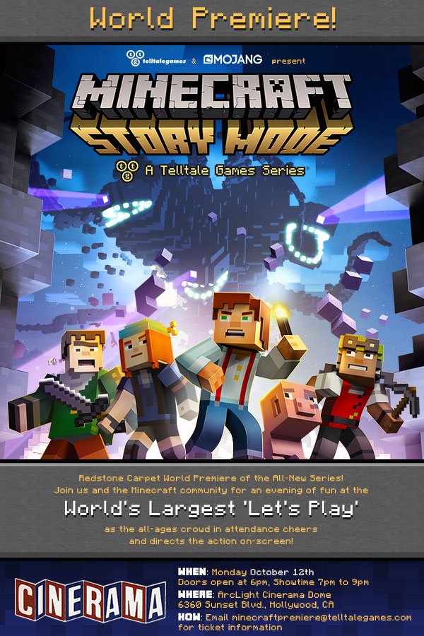 Telltale Games MINECRAFT: STORY MODE To World Premiere In LA