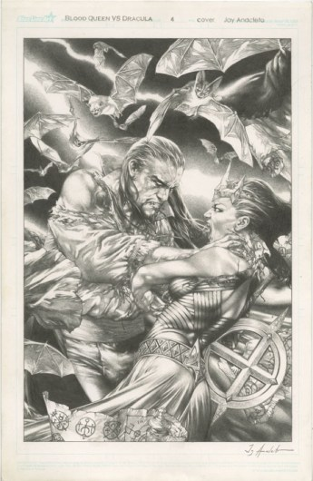 SAVED WHISKERS RESCUE - BLOOD QUEEN VS DRACULA #4 COVER Jay Anacleto