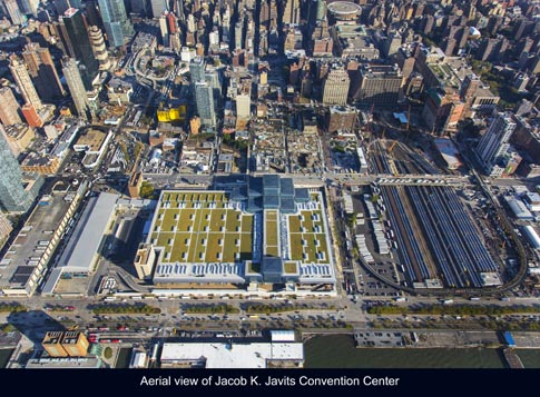 Jacob K Javits Convention Center, Green Roof, Location: New York NY, Architect: Richard Rogers and James Ingo Freed