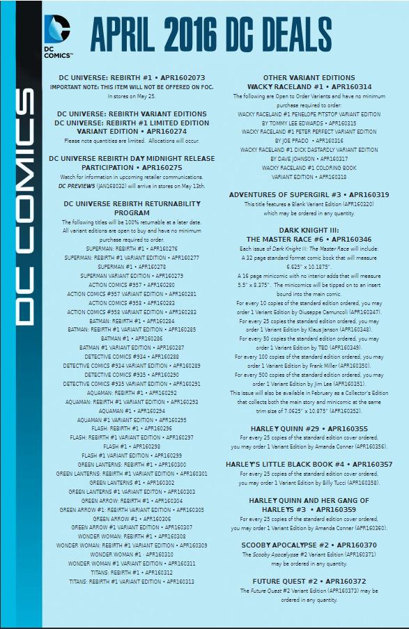 DC Variants April 2016