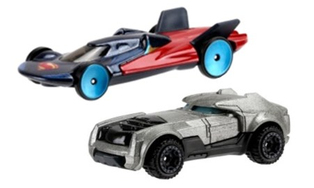 Hot Wheels Batman v Superman: Ever wondered how super heroes would look like in car form? Our three heroes will be featured transformed as a Hot Wheel. SRP $3.99 each