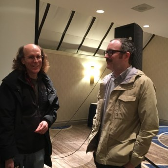 Brown and Noah van Sciver share a laugh afterwards.