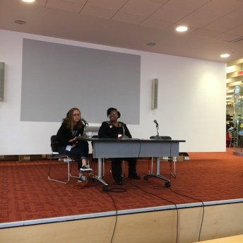 """Tillie Waldman and SPike Trotman spoke on """"Inclusion"""" in a lively discussion as they say."""