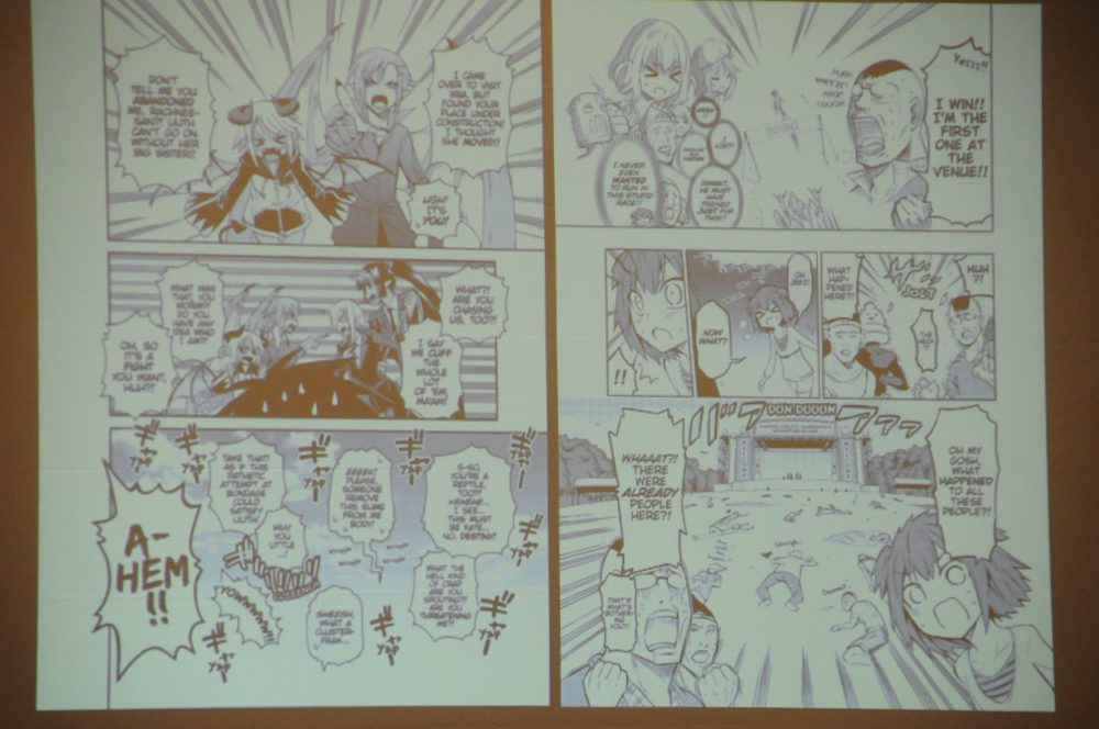 Example of Manga Ballooning and Lettering
