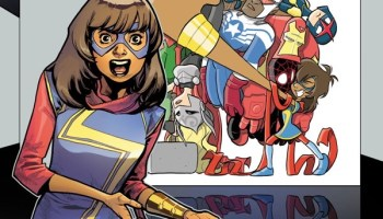 Faith Erin Hicks is drawing a Ms  Marvel/Squirrel Girl