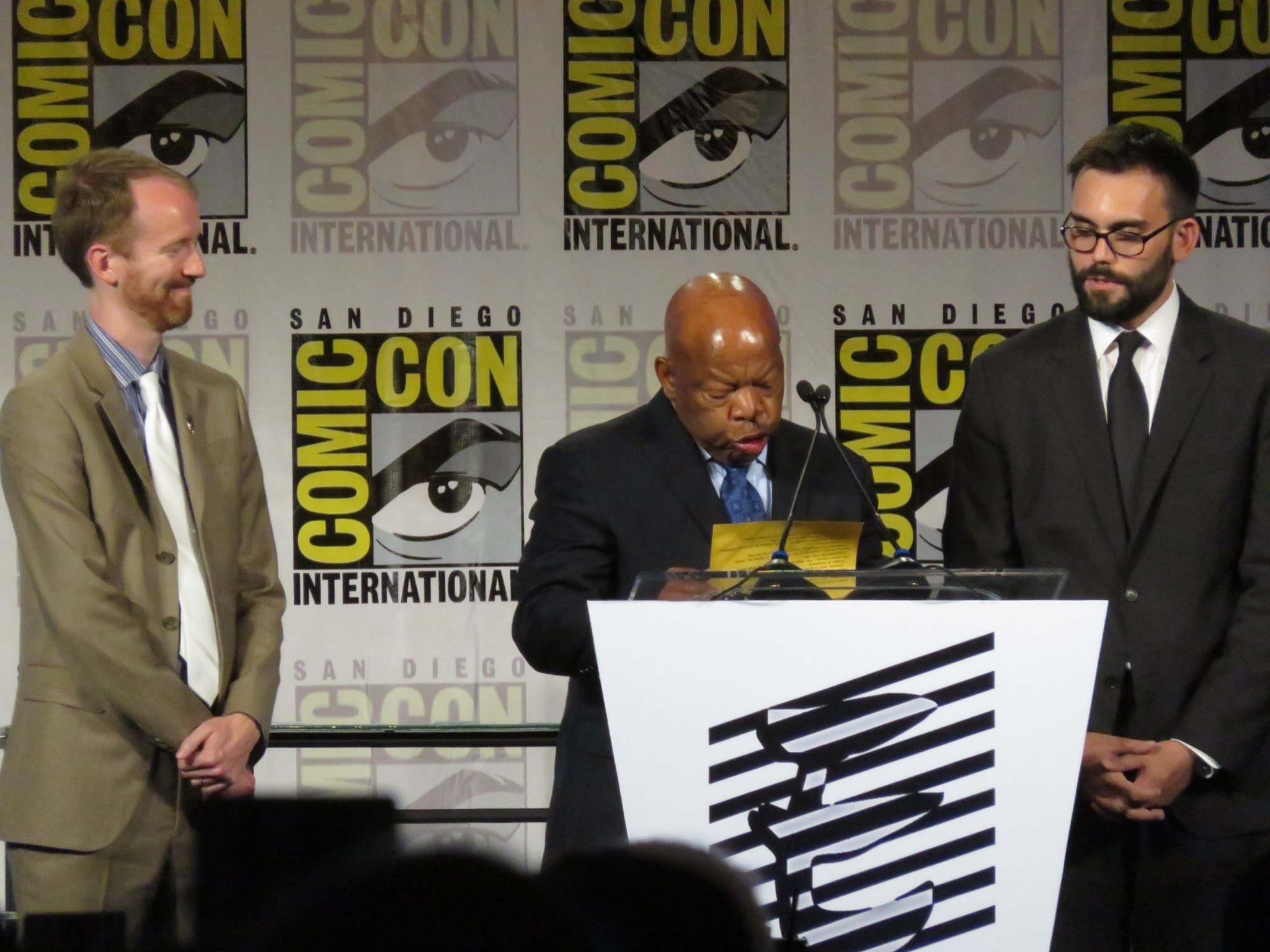 Nate Powell, Congressman John Lewis and Andrew Aydin.JPG