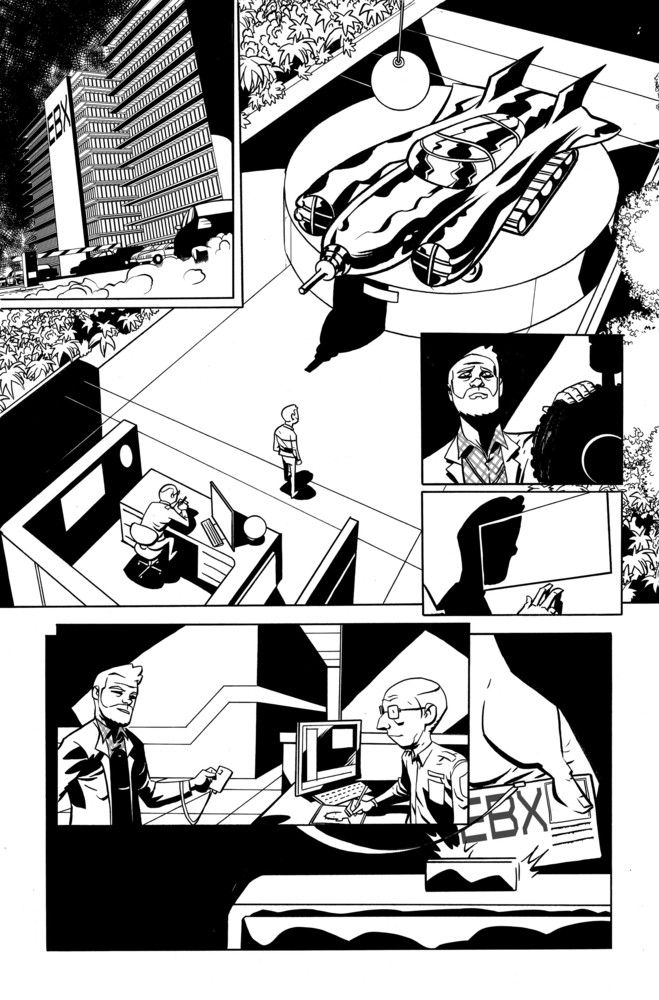 Cave Carson #1 page, art by Oeming