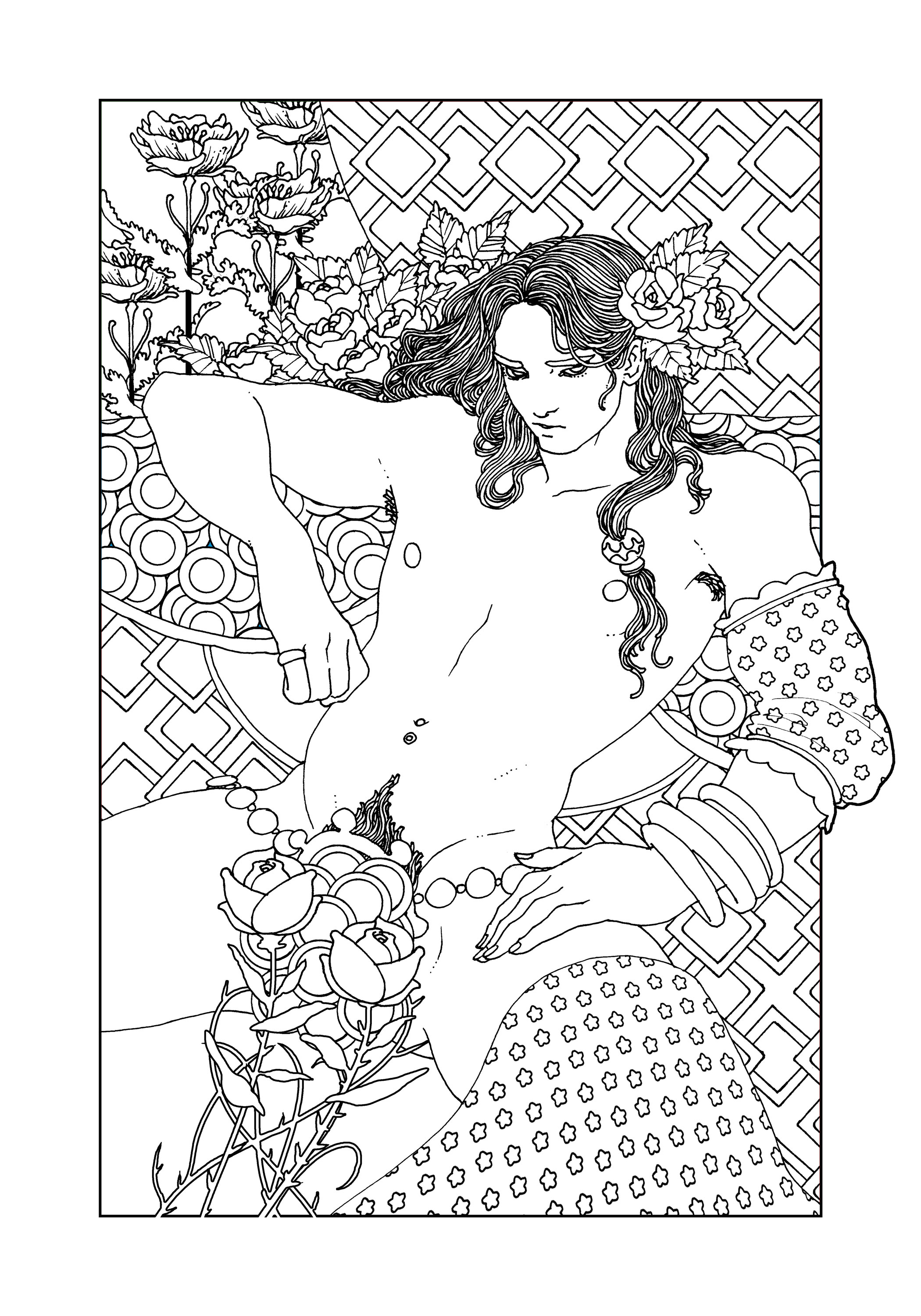 Nude women coloring book pictures — pic 12