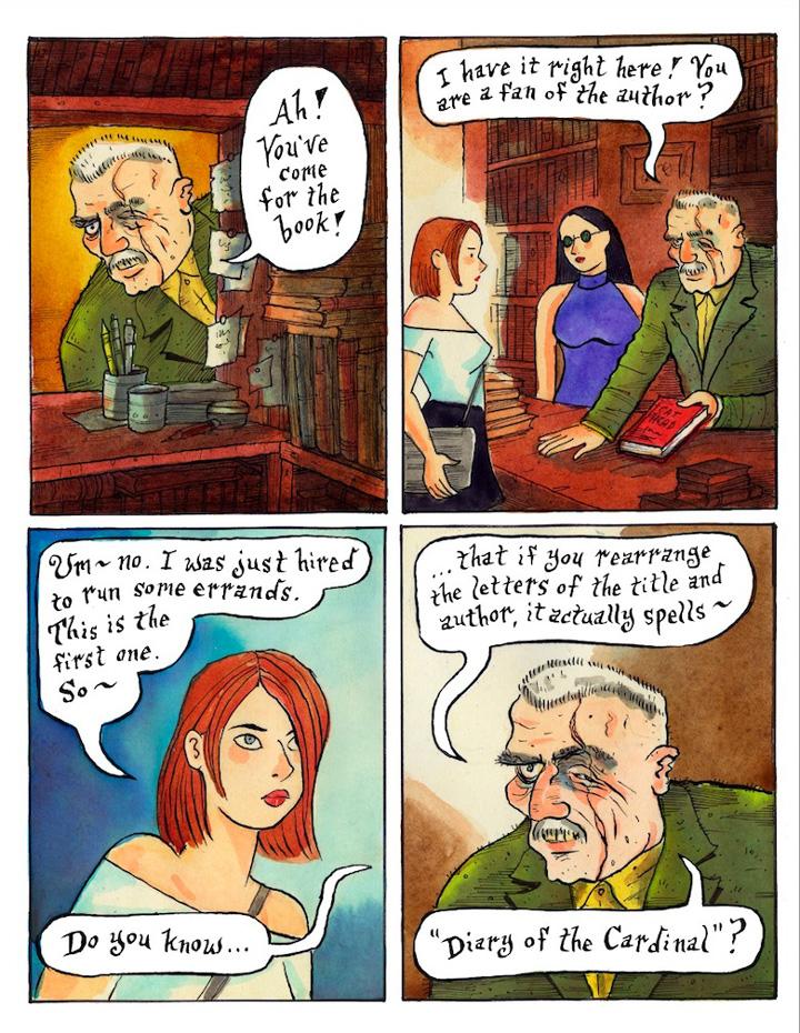 Has left Cartoon comic links adult