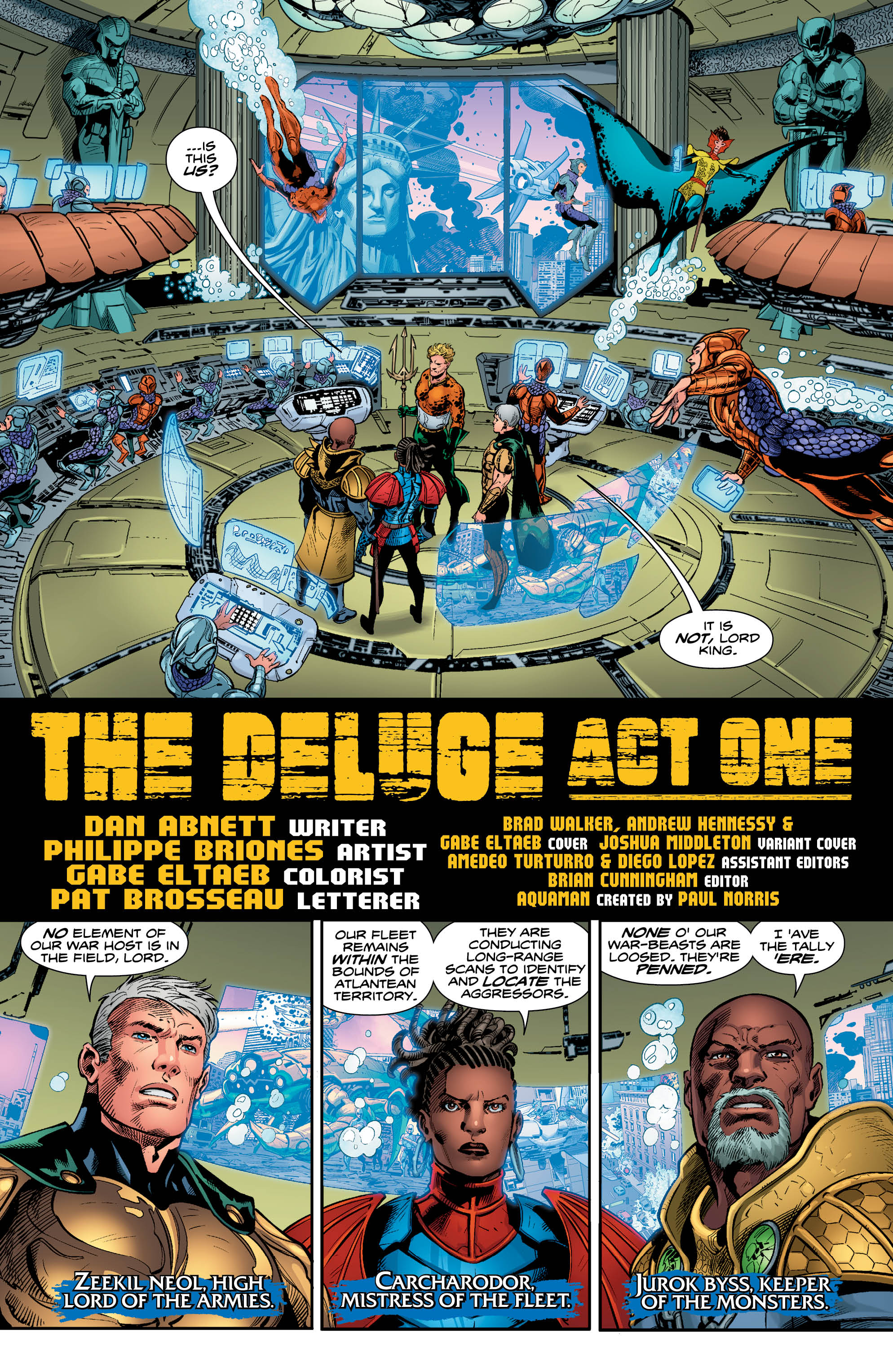 Lu: One Interesting Thing About Your Run On Aquaman Is That The Current  Storyline Echoes The Real World Perception That Our Governing Institutions  Are No