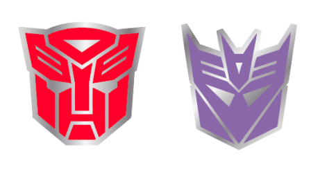 Autobots and Decepticons Symbol Pin