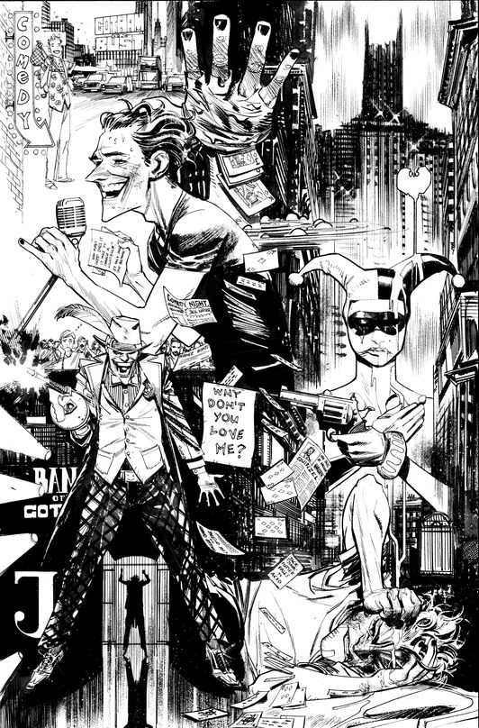 "Satoshi Kon og Bruce Timm på ""Batman: Gotham Knight""."