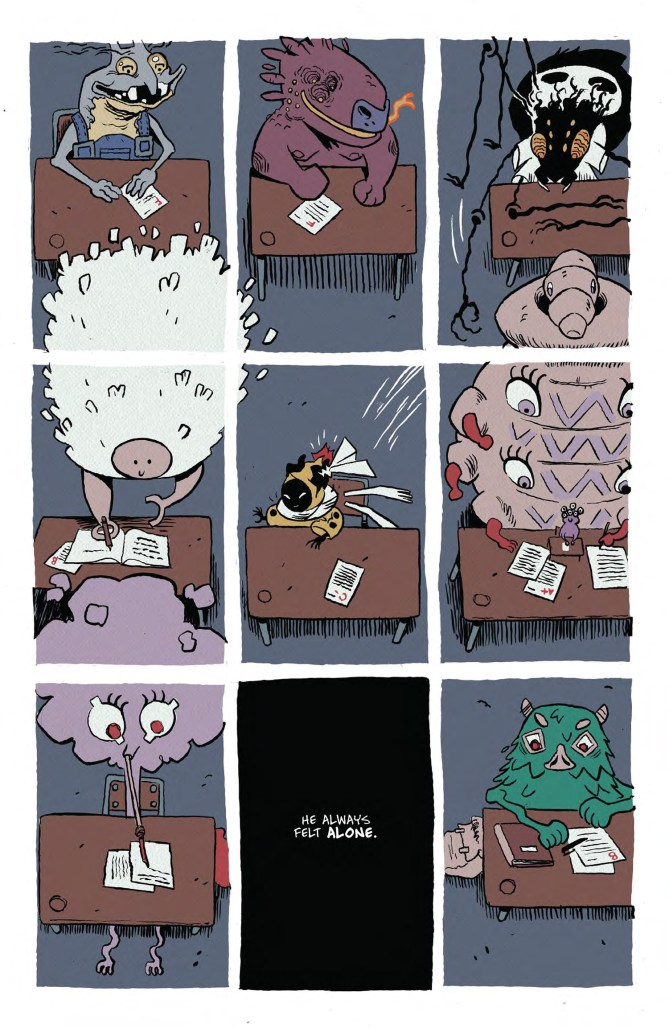 Interior of graphic novel.