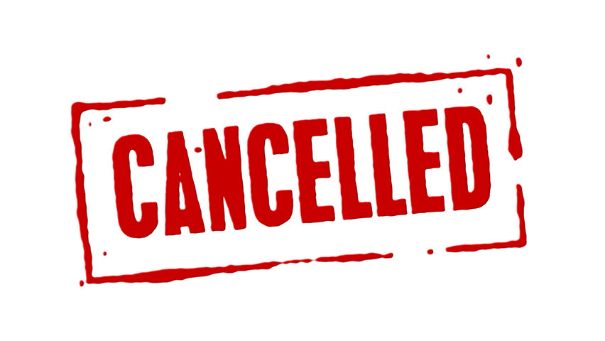 Image result for cancelled