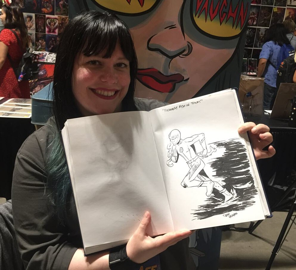 Ace comic con seattle draws big stars and big crowds but not betty veronica vixens artist and beat alum jen vaughn with yours trulys freshly drawn in sketchbook m4hsunfo
