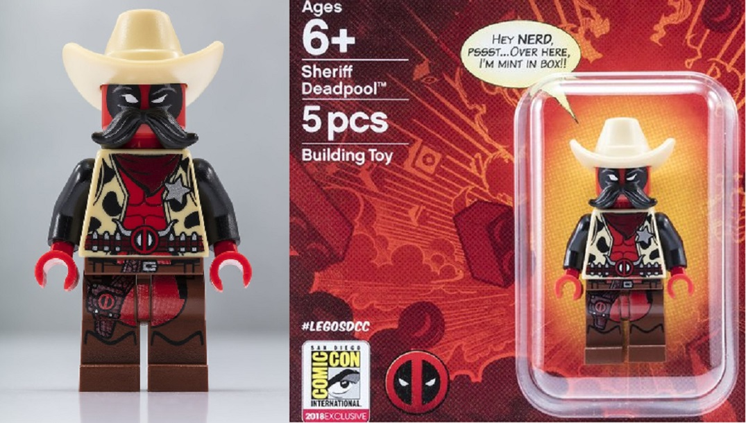 SDCC '18: LEGO Exclusive Sheriff Deadpool Minifig Giveaway - The Beat