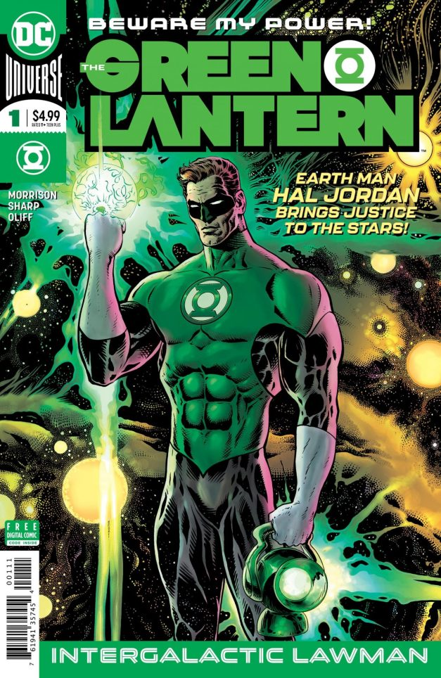 Capa de Green Lantern #1, destaque do Amálgama de hoje. Arte de Liam Sharp.