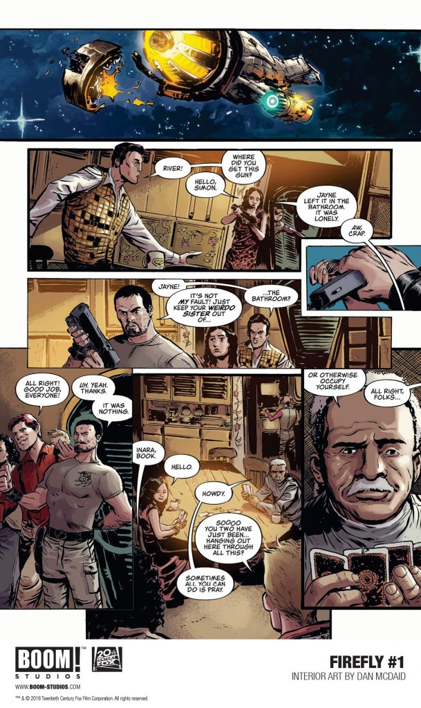 Preview: 5 Pages of Firefly #1 as the Ship Catches Fire