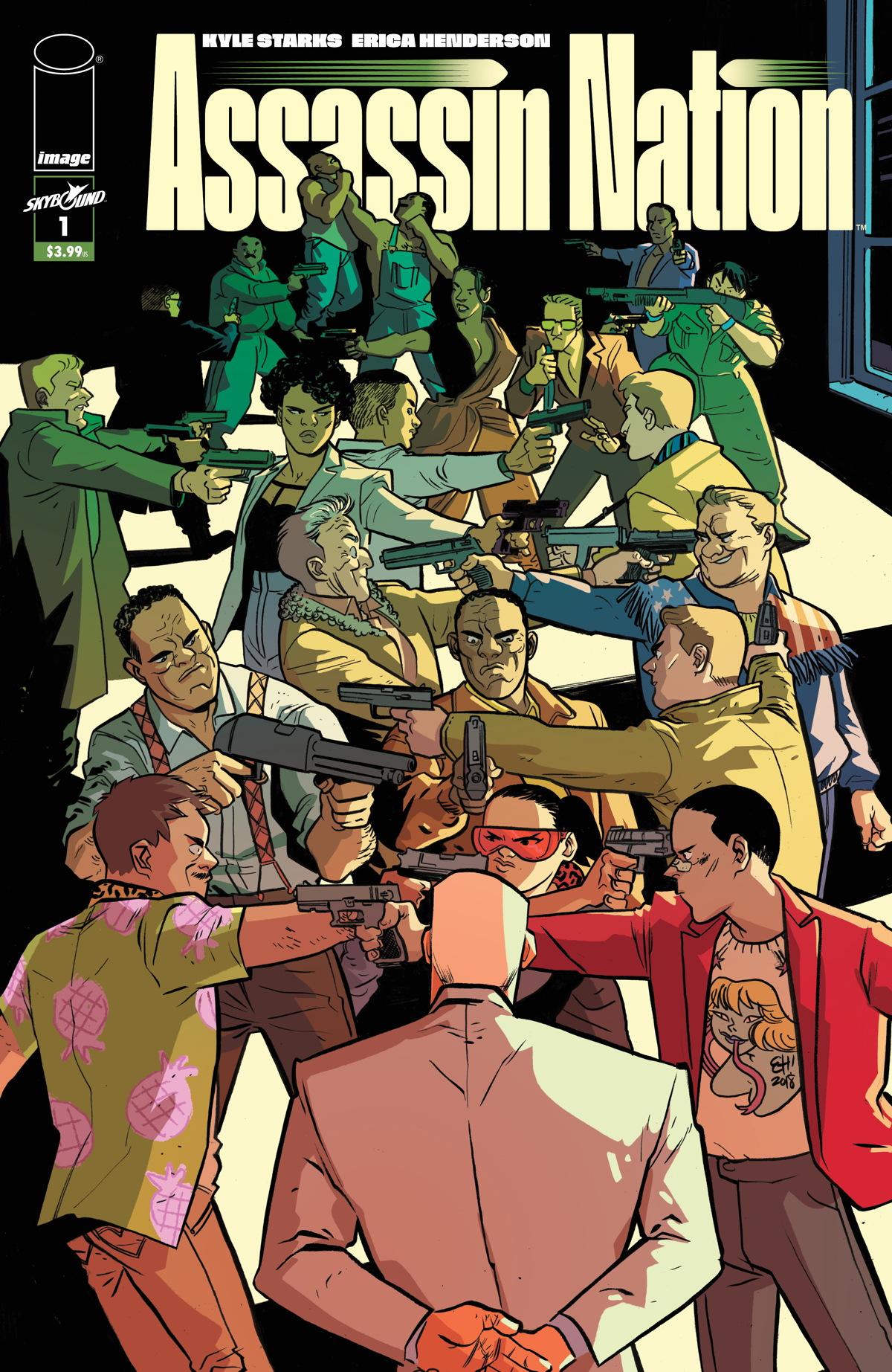 Assassin Nation #1 cover art by Erica Henderson