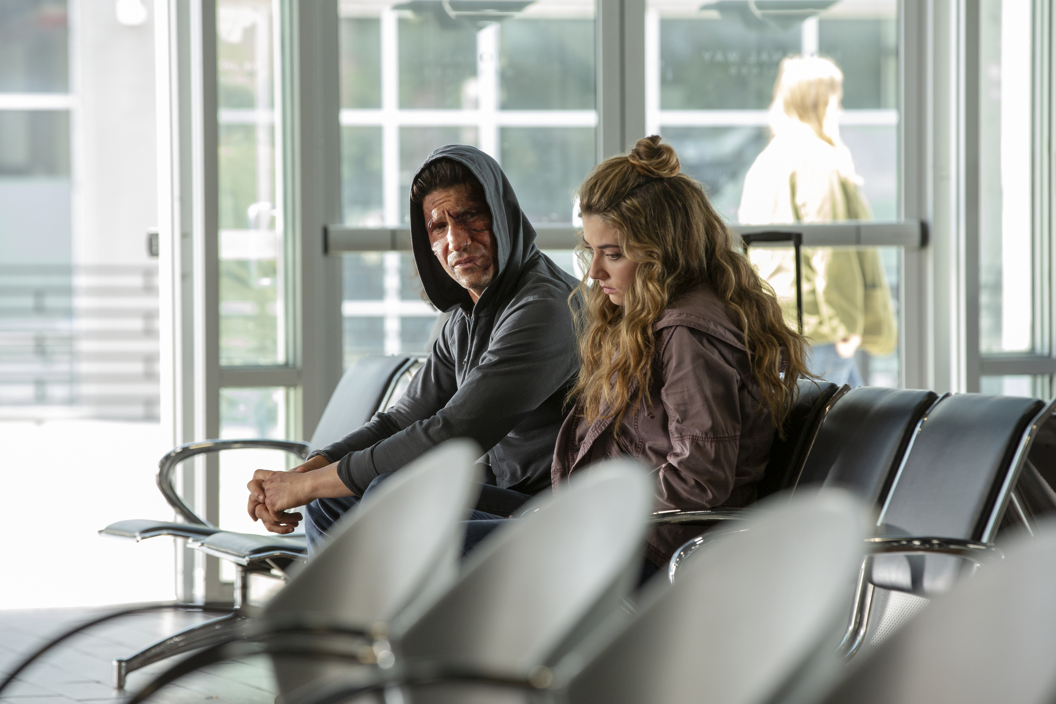 John Bernthal and Giorgia Whigham star in Marvel's The Punisher