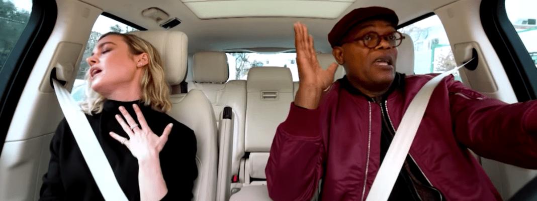 Photo of Brie Larson and Samuel L. Jackson in 'Carpool Karaoke'