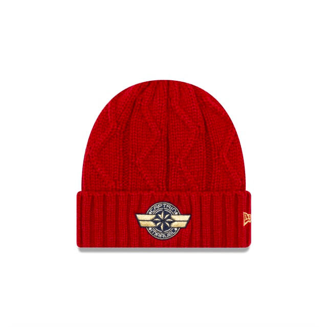 Captain Marvel knit hat by New Era