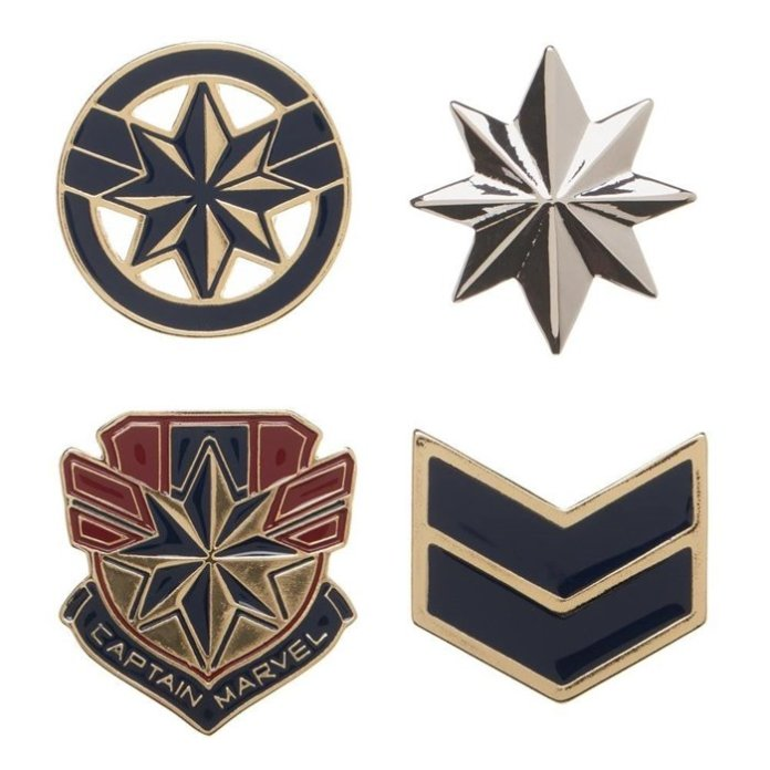 Captain Marvel lapel pins from Superhero Stuff