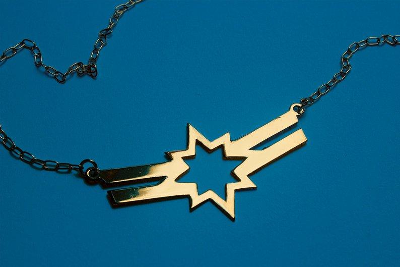 Carol Danvers pendant necklace by NavekaDesigns/Etsy