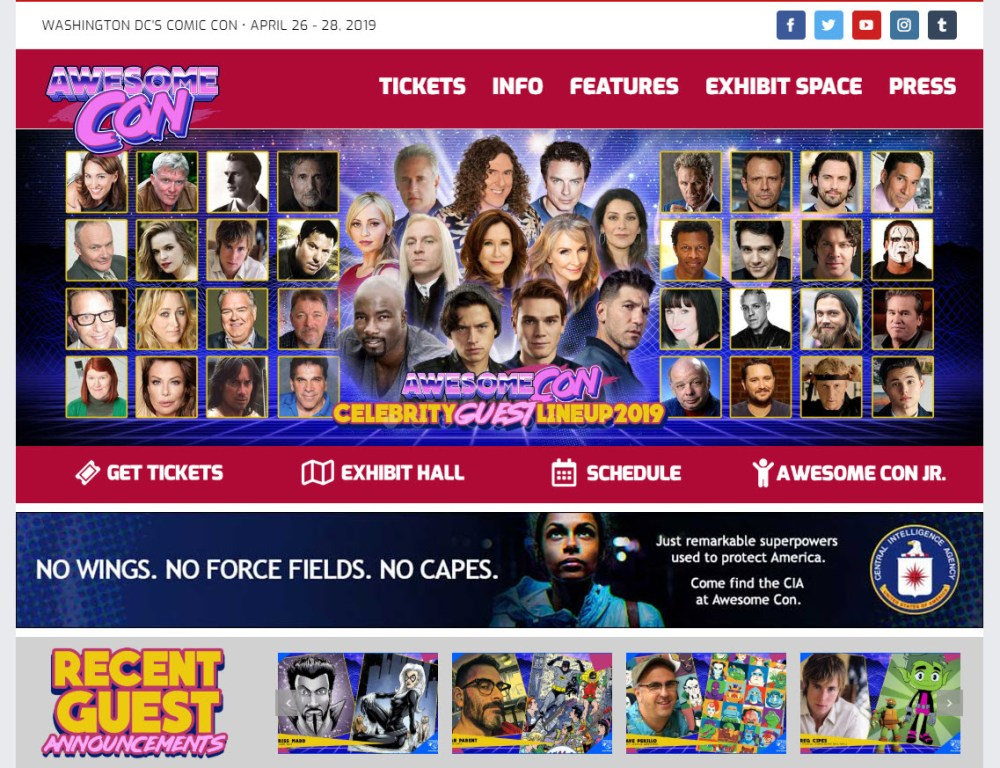 A CIA ad on the AwesomeCon main page